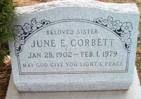 CORBETT, JUNE E. - Yavapai County, Arizona | JUNE E. CORBETT - Arizona Gravestone Photos