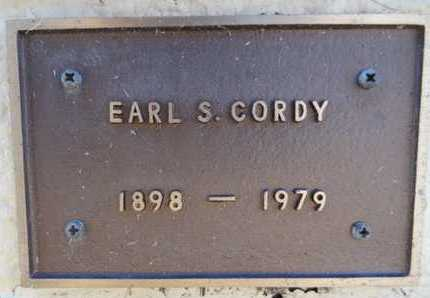 CORDY, EARL SAMSON - Yavapai County, Arizona | EARL SAMSON CORDY - Arizona Gravestone Photos