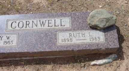 CORNWELL, RUTH L. - Yavapai County, Arizona | RUTH L. CORNWELL - Arizona Gravestone Photos