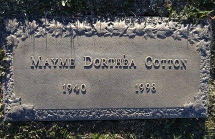 COTTON, MAYME DORTHEA - Yavapai County, Arizona | MAYME DORTHEA COTTON - Arizona Gravestone Photos