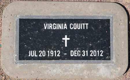 COUITT, VIRGINIA - Yavapai County, Arizona | VIRGINIA COUITT - Arizona Gravestone Photos