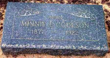 COULSON, MINNIE E. - Yavapai County, Arizona | MINNIE E. COULSON - Arizona Gravestone Photos