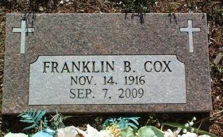 COX, FRANKLIN BYRON - Yavapai County, Arizona   FRANKLIN BYRON COX - Arizona Gravestone Photos