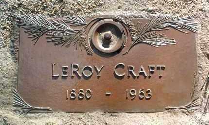 CRAFT, LEROY - Yavapai County, Arizona | LEROY CRAFT - Arizona Gravestone Photos