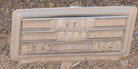 CRAW, ANNIE - Yavapai County, Arizona | ANNIE CRAW - Arizona Gravestone Photos