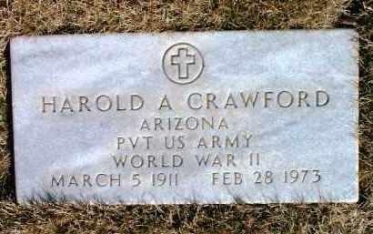 CRAWFORD, HAROLD A. - Yavapai County, Arizona | HAROLD A. CRAWFORD - Arizona Gravestone Photos