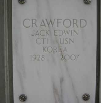 CRAWFORD, JACK EDWIN - Yavapai County, Arizona | JACK EDWIN CRAWFORD - Arizona Gravestone Photos