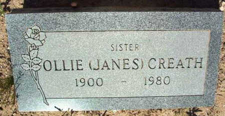 JANES CREATH, OLLIE - Yavapai County, Arizona | OLLIE JANES CREATH - Arizona Gravestone Photos