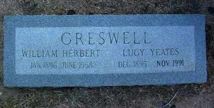 YEATES CRESWELL, LUCY - Yavapai County, Arizona | LUCY YEATES CRESWELL - Arizona Gravestone Photos