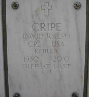 CRIPE, DAVID RALPH - Yavapai County, Arizona | DAVID RALPH CRIPE - Arizona Gravestone Photos