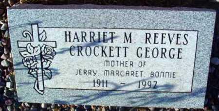 REEVES GEORGE, HARRIET - Yavapai County, Arizona | HARRIET REEVES GEORGE - Arizona Gravestone Photos