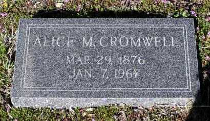 CROMWELL, ALICE M. - Yavapai County, Arizona | ALICE M. CROMWELL - Arizona Gravestone Photos
