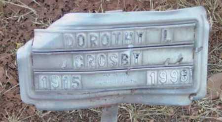 CROSBY, DOROTHY L. - Yavapai County, Arizona   DOROTHY L. CROSBY - Arizona Gravestone Photos