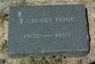 PAINE, FRANK CROSBY, JR. - Yavapai County, Arizona | FRANK CROSBY, JR. PAINE - Arizona Gravestone Photos