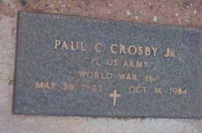 CROSBY, PAUL C., JR. - Yavapai County, Arizona   PAUL C., JR. CROSBY - Arizona Gravestone Photos