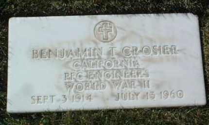 CROSIER, BENJAMIN TORRENCE - Yavapai County, Arizona | BENJAMIN TORRENCE CROSIER - Arizona Gravestone Photos