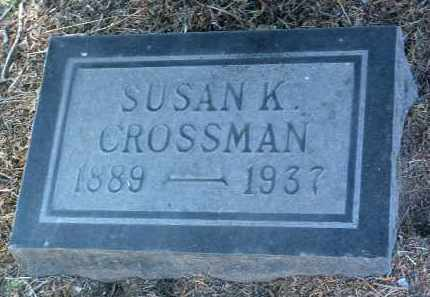 CROSSMAN, SUSAN K. - Yavapai County, Arizona   SUSAN K. CROSSMAN - Arizona Gravestone Photos