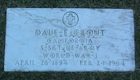 CROUT, DALE  E. - Yavapai County, Arizona   DALE  E. CROUT - Arizona Gravestone Photos