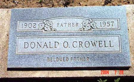 CROWELL, DONALD O. - Yavapai County, Arizona | DONALD O. CROWELL - Arizona Gravestone Photos