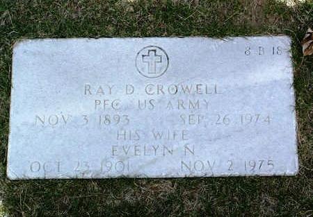 CROWELL, RAY D. - Yavapai County, Arizona | RAY D. CROWELL - Arizona Gravestone Photos