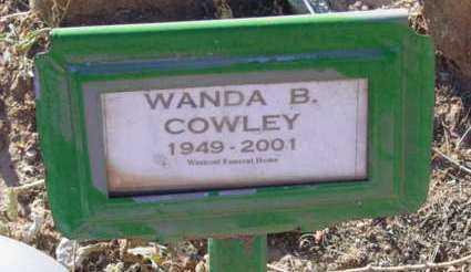 COWLEY, WANDA B. - Yavapai County, Arizona   WANDA B. COWLEY - Arizona Gravestone Photos