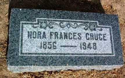 CRUCE, NORA FRANCES - Yavapai County, Arizona   NORA FRANCES CRUCE - Arizona Gravestone Photos