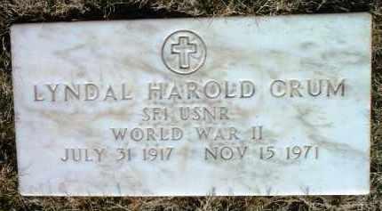 CRUM, LYNDAL HAROLD - Yavapai County, Arizona | LYNDAL HAROLD CRUM - Arizona Gravestone Photos