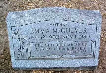 CULVER, EMMA M. - Yavapai County, Arizona | EMMA M. CULVER - Arizona Gravestone Photos