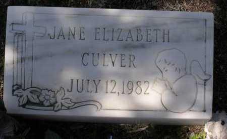 CULVER, JANE ELIZABETH - Yavapai County, Arizona   JANE ELIZABETH CULVER - Arizona Gravestone Photos