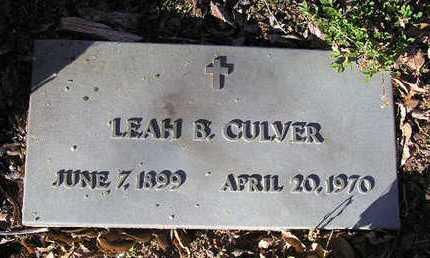 CULVER, LEAH ISABELLE - Yavapai County, Arizona | LEAH ISABELLE CULVER - Arizona Gravestone Photos