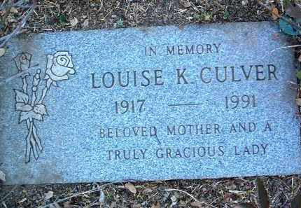 HUTHER CULVER, LOUISE KATHERINE - Yavapai County, Arizona | LOUISE KATHERINE HUTHER CULVER - Arizona Gravestone Photos