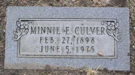DAVIS CULVER, MINNIE E. - Yavapai County, Arizona   MINNIE E. DAVIS CULVER - Arizona Gravestone Photos