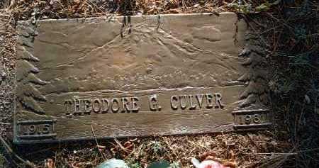 CULVER, THEODORE G. - Yavapai County, Arizona | THEODORE G. CULVER - Arizona Gravestone Photos