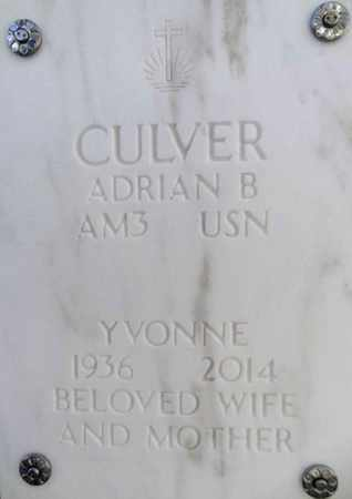 MYERS CULVER, YVONNE - Yavapai County, Arizona | YVONNE MYERS CULVER - Arizona Gravestone Photos