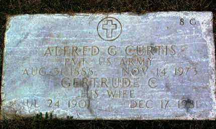 CURTIS, ALFRED GEORGE, JR. - Yavapai County, Arizona | ALFRED GEORGE, JR. CURTIS - Arizona Gravestone Photos