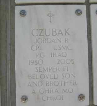 CZUBAK, JORDAN R. - Yavapai County, Arizona | JORDAN R. CZUBAK - Arizona Gravestone Photos