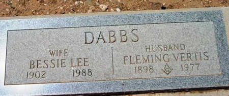 DABBS, FLEMING VERTIS - Yavapai County, Arizona | FLEMING VERTIS DABBS - Arizona Gravestone Photos