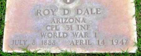 DALE, ROY D. - Yavapai County, Arizona   ROY D. DALE - Arizona Gravestone Photos