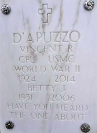 D'APUZZO, VINCENT RICHARD - Yavapai County, Arizona | VINCENT RICHARD D'APUZZO - Arizona Gravestone Photos