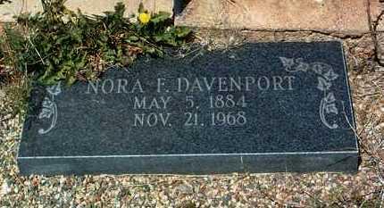 DAVENPORT, NORA ELLEN - Yavapai County, Arizona | NORA ELLEN DAVENPORT - Arizona Gravestone Photos