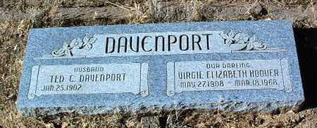 DAVENPORT, VIRGIE E. - Yavapai County, Arizona   VIRGIE E. DAVENPORT - Arizona Gravestone Photos