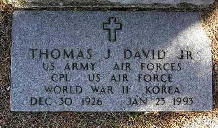 DAVID, THOMAS J. - Yavapai County, Arizona | THOMAS J. DAVID - Arizona Gravestone Photos