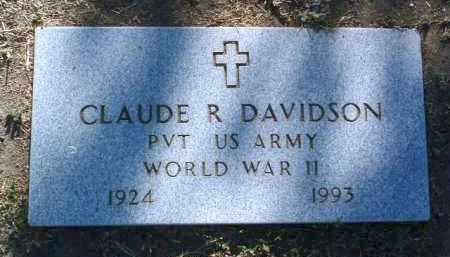 DAVIDSON, CLAUDE R. - Yavapai County, Arizona | CLAUDE R. DAVIDSON - Arizona Gravestone Photos