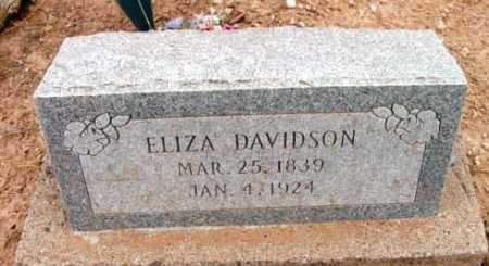 DAVIDSON, ELIZA - Yavapai County, Arizona | ELIZA DAVIDSON - Arizona Gravestone Photos