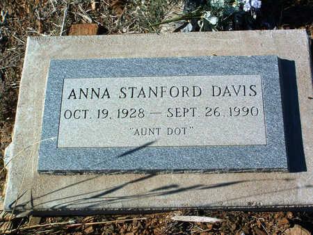 DAVIS, ANNE STANFORD - Yavapai County, Arizona   ANNE STANFORD DAVIS - Arizona Gravestone Photos