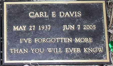 DAVIS, CARL E. - Yavapai County, Arizona | CARL E. DAVIS - Arizona Gravestone Photos