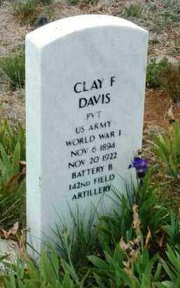 DAVIS, CLAY FRANCIS - Yavapai County, Arizona | CLAY FRANCIS DAVIS - Arizona Gravestone Photos