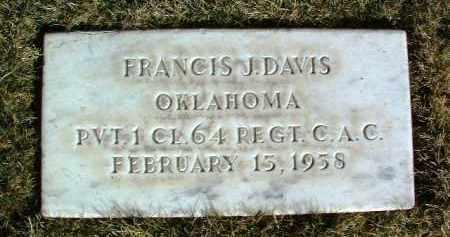 DAVIS, FRANCIS J. - Yavapai County, Arizona | FRANCIS J. DAVIS - Arizona Gravestone Photos