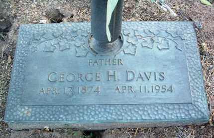 DAVIS, GEORGE HENRY - Yavapai County, Arizona | GEORGE HENRY DAVIS - Arizona Gravestone Photos