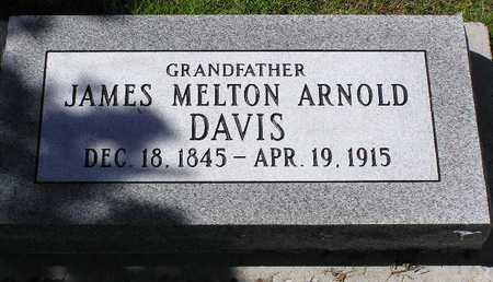 DAVIS, JAMES MELTON ARNOLD - Yavapai County, Arizona | JAMES MELTON ARNOLD DAVIS - Arizona Gravestone Photos